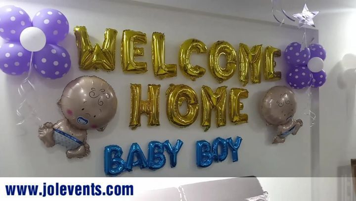 Newborn Baby Room Decoration With Balloons